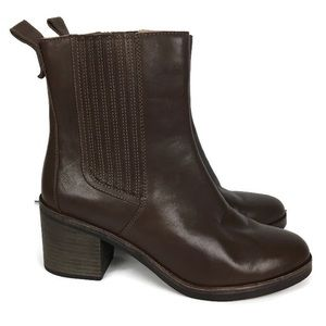 UGG Camden Exotic Leather Heeled Booties in Brown